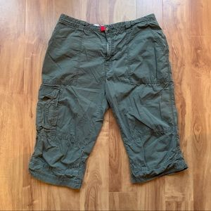 Tommy Hilfiger Green Cargo Shorts